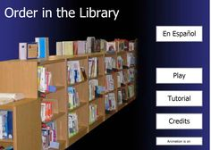 Games for determining the order of books in the library.