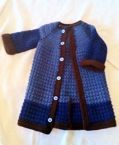 "Baby Long Suit Jacket $36.00 Size: 6-12 months (Artist: Christi Smith with ""Sweetie Crochet"") https://www.facebook.com/TheSweetieCrochet"