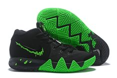 8d779b1283b Nike Kyrie 4 Halloween With The Decades Pack 4 Black Rage Green Sports  Shoes Super Deals