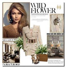 Wild flower!! by lilly-2711 on Polyvore featuring polyvore, fashion, style, Dsquared2, Yves Saint Laurent, Alexia Crawford, Balmain, Agent Provocateur, Børn, sandals, balmain, animalprint and gigihadid