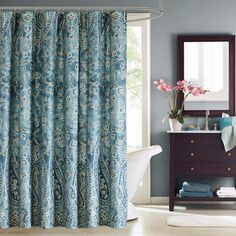 Shop for Windsor Paisley Cotton Shower Curtain. Free Shipping on orders over $45 at Overstock.com - Your Online Bath