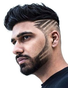 Looking for haircut designs that can take your style to the next level? There's one for you in this album of 17 cool and unique haircut designs. Undercut Men, Undercut Hairstyles, Cool Hairstyles, Side Undercut, Shaved Hairstyles, Cool Haircuts, Haircuts For Men, Sideburn Styles, Skin Fade Pompadour