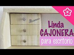 Cajonera de cartón para escritorio estilo de Madera muy resistente- DecoAndCrafts - YouTube