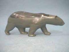 Polar Bear Polar Bear Images, Polar Bears, Soapstone Carving, Sculptures, Lion Sculpture, Inuit Art, Aboriginal Art, Stone Art, Piggy Bank