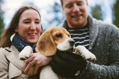 Ben & Laura's beagle puppy engagement shoot!   Mustard Yellow Photography