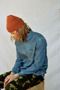 CPO Denim Button-Down Shirt #urbanoutfitters
