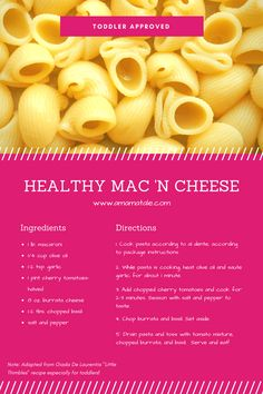 Toddler Approved Healthy Mac 'n Cheese | A recipe for healthy macaroni and cheese that toddlers will love! | Toddlers | Healthy Recipes | Macaroni and Cheese From www.amamatale.com