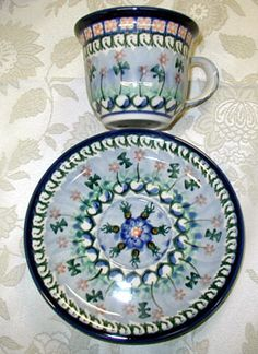 Polish pottery - Ceramika Artystyczna never seen this pattern before..different!!!
