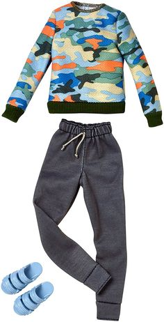Barbie Fashionista Complete Outfit NIB Ken New York T Sweats High Top Tennis