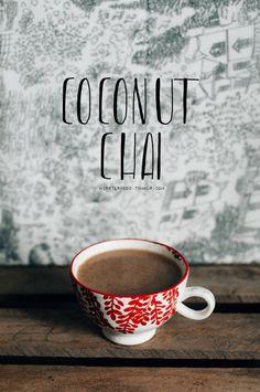vegan coconut chai latte