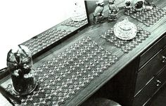 PDF Fancy Victorian Lacy Rectangular Doilies Tatting Pattern, Heirloom, Keepsake, Prettyx