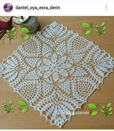Crochet Lace Edging, Crochet Square Patterns, Crochet Borders, Crochet Round, Crochet Home, Crochet Gifts, Crochet Designs, Free Crochet, Lace Doilies