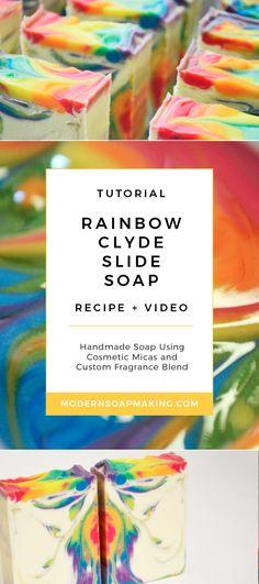 Rainbow Soap Recipe | Handmade Soap Tutorial | Soapmaking Video