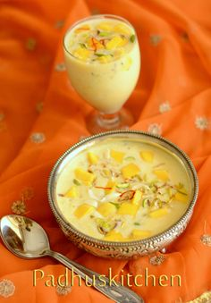 Easy Mango Recipes-Indian Mango Recipes-(Ripe and Raw Mango) - Padhuskitchen Mango Recipes Indian, Easy Mango Recipes, Indian Dessert Recipes, Indian Sweets, Sweet Recipes, Easy Food To Make, Indian Dishes, Baking Recipes, Sweets