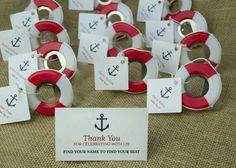 Idéia original! Bóia salva - vidas com tag de agradecimento ❤