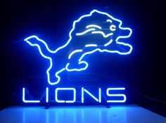 Amazon.com: NEW NFL DETROIT LIONS REAL NEON LIGHT BEER SIGN: Home Improvement