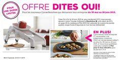 Offre DITES-OUI en Juin - Mandoline 25$ - Tupperware Debbie DufourTupperware Debbie Dufour