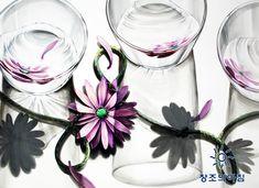 기초디자인 건국대 기디 입시미술 기초디자인 꽃, 유리컵, 로프 일러스트 디자인