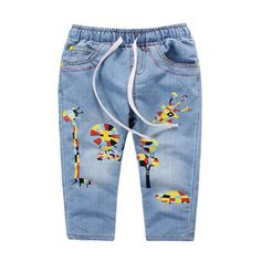 Cheap trouser clips, Buy Quality trousers point directly from China trousers china Suppliers: New Spring 2016 Baby Girls Jeans Kids Clothing Boy Enfant Children Jeans Cartoon Print Elastic Waist Pants Demin Casual Trouser Baby Girl Jeans, Girls Pants, Baby Girls, Kids Clothes Boys, Kids Clothing, Cheap Jeans, Elastic Waist Pants, Garden Toys, Spring 2015