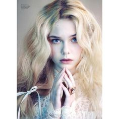 LOVE Editorial Angels and Demons   Elle Fanning, Issue 6 - MyFDB ❤ liked on Polyvore featuring elle fanning, models, people, pics, backgrounds and editorials