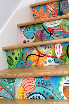 Take advantage of the places in your home where people don't think to add color! Stair risers is opportunity #1 !