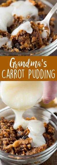 Classic carrot pudding like your grandma used to make