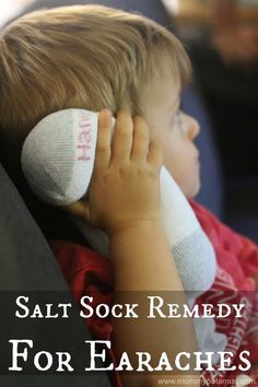 Natural skin tips home remedies Salt Sock Natural Home Remedy for Earaches; The season of ear infections is almost upon us. Relieve otitis symptoms and inflammation naturally! Home Remedies For Earache, Cold Remedies, Natural Health Remedies, Natural Cures, Herbal Remedies, Natural Beauty, Natural Oil, Natural Treatments, Natural Foods
