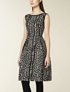 Corolla dress with polka dot pattern, black - Max Mara United Kingdom