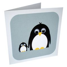 wobbly eyed penguin card by stripeycats | notonthehighstreet.com
