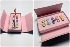 a really good tutorial on making an elegant gift box with a magnetic closure. Needs translation.
