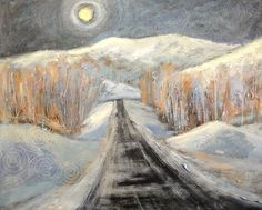 Silver Moon, Night Road by Holly Friesen