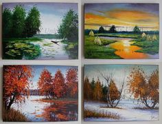 Four+Seasons+Original+Oil+Paintings+Landscapes+Impasto+Fine+Art+4+PCS++Palette+knife+Autumn+Textured http://artistsunion.ecrater.com/p/25640760/four-seasons-original-oil-paintings