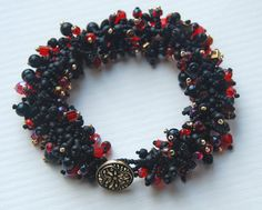 Night at the Opera Beaded Fringed Bracelet by totallytwisted