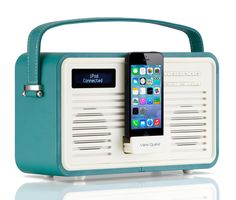 Vintage Stil kombiniert mit moderner Technik: View Quest Retro Radio (FM/DAB+) mit Lightning-Dock