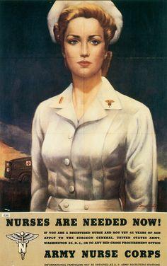 Vintage Army Nurse Corps Poster