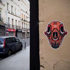 """>Parisian Streets... This is only the beginning... #mementomori #artistatome #artwork #vectorart #skull #vanity #illustration #illustrator…"""
