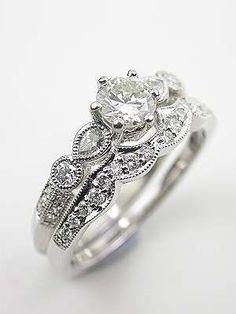 Antique Style Diamond Wedding Band- Holy wow...