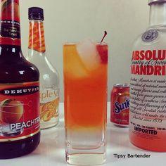 The Fuzzy Orange Georgian- orange soda, orange vodka, peach schnapps, triple sec.