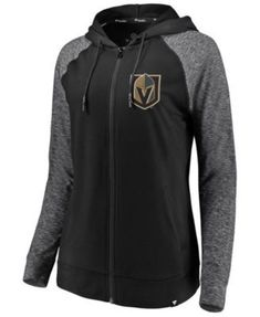 f3b6e91bf Authentic Nhl Apparel Women s Vegas Golden Knights Made 2 Move Full-Zip  Hoodie - Black