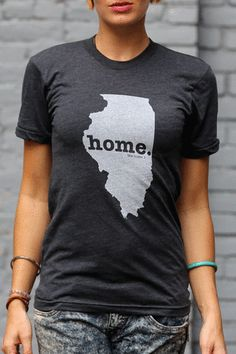"""Home"" Ts in every state - portion of profits goes toward multiple sclerosis research - Illinois Home T"