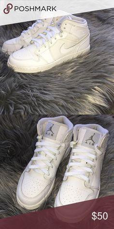 ce076d5445d Jordan s All white air Jordan s in almost new condition Jordan Shoes  Sneakers