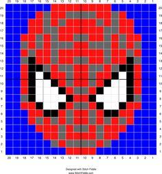 Spider-Man | Designed by Amanda B | Stitch Fiddle - Stitch Fiddle