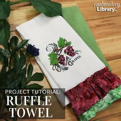 Brighten your kitchen decor with a colorful ruffle towel with this tutorial from Embroidery Library.