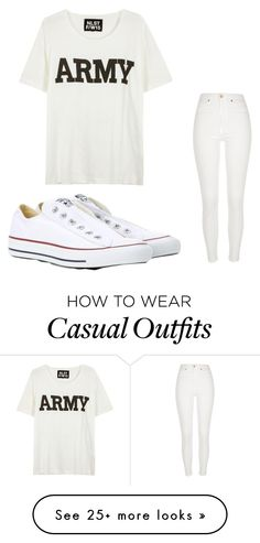 """casual"" by drummerchick81 on Polyvore featuring NLST, Converse and River Island"