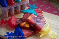 Low Fat Vegan Chef's Whole Food Watermelon Fruitsicle Popsicles #Vegan #Summer