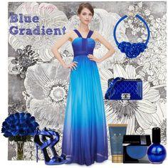 """blue gradient"" by everprettyintl on Polyvore"