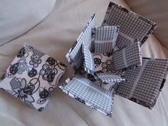 Caixa de costura forrada com tecido.
