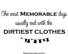 Vinyl Wall Decal  The most memorable days by WickedGoodDecor, $7.99
