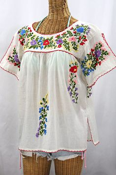 a6e1e5e0c12 Mexican Blouses   Hand Embroidered Vintage-Style Peasant Tops
