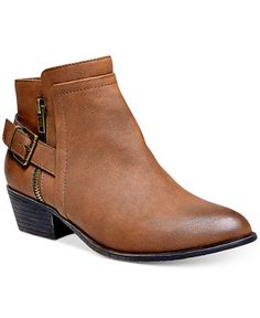 Madden Girl Hunttz Ankle Booties - (Cognac) // just bought these!!